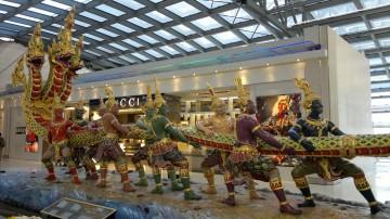 Tug of War sculpture at the Suvarnabhumi Airport