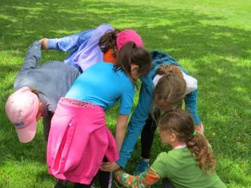 Kids playing Knots